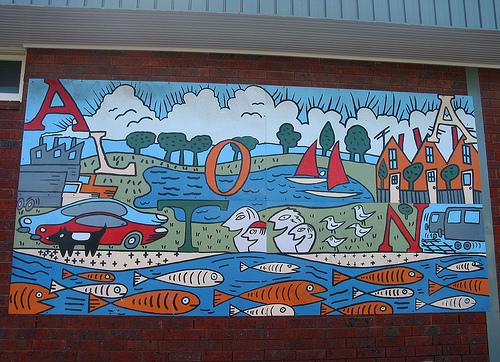 Altona Train Station Painting