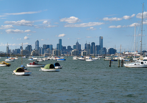 Melbourne City Views From Williamstown