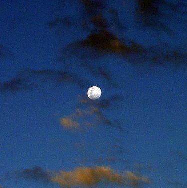 Daylight Moon over Cherry Lake