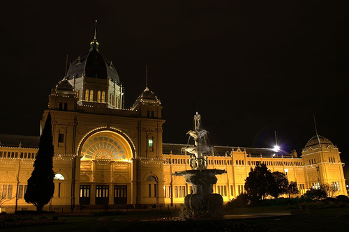 Royal Exhibition Building Glows in the Night