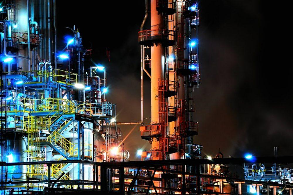 Altona Refinery Night Lightings