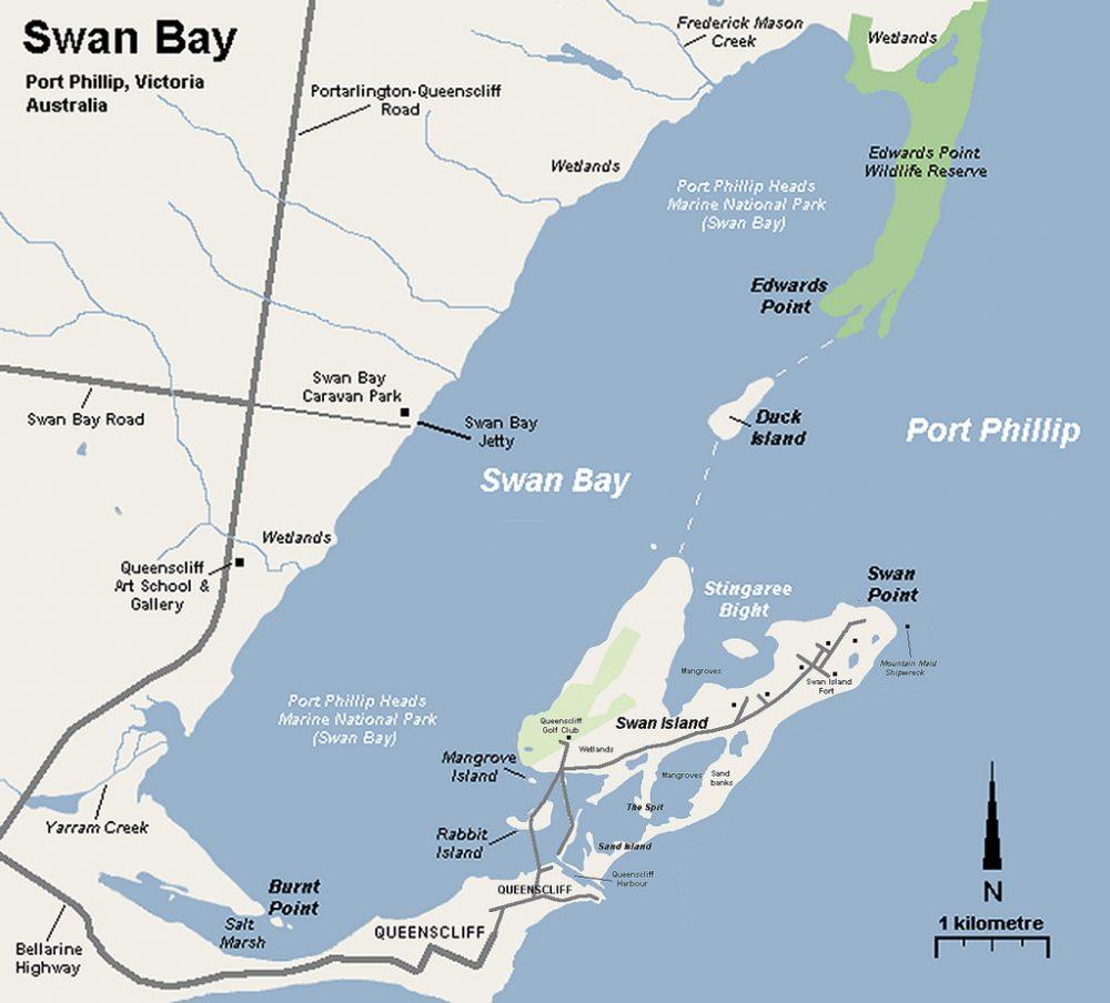 Map of Swan Bay