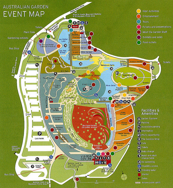 Map of Australian Garden Cranbourne