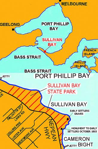 Map of Sullivan Bay