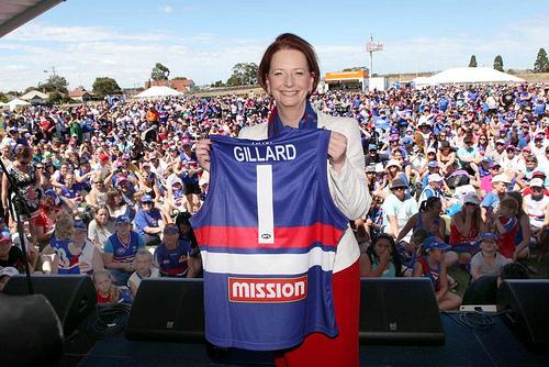 Julia Gillard Western Bulldog Jersey