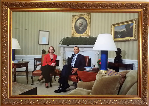Julia Gillard with Barack Obama 1